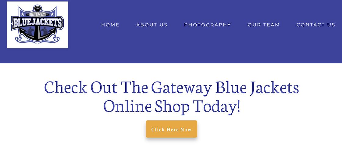 Gateway Blue Jackets Website