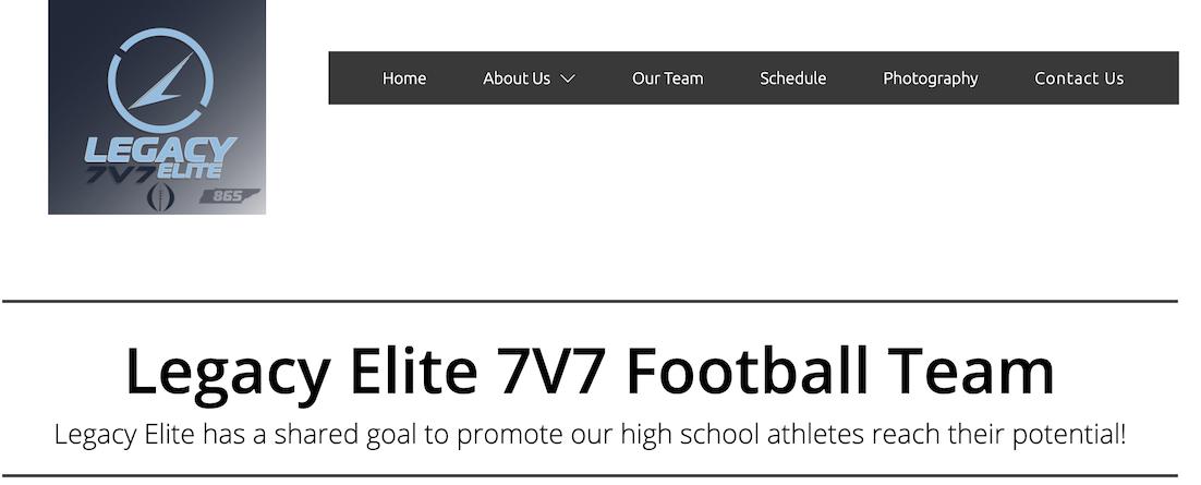 Legacy Elite Website